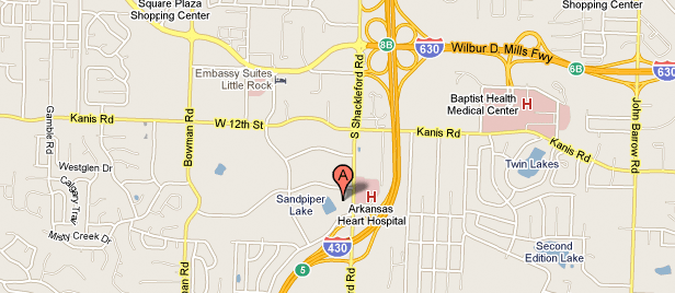 Map to Our Little Rock Plastic Surgery Office