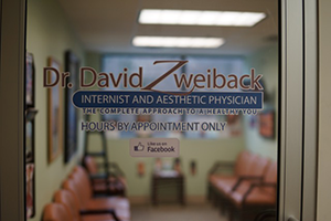 Dr. David Zweiback new door logo