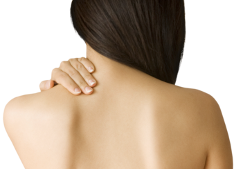 A woman's bare back