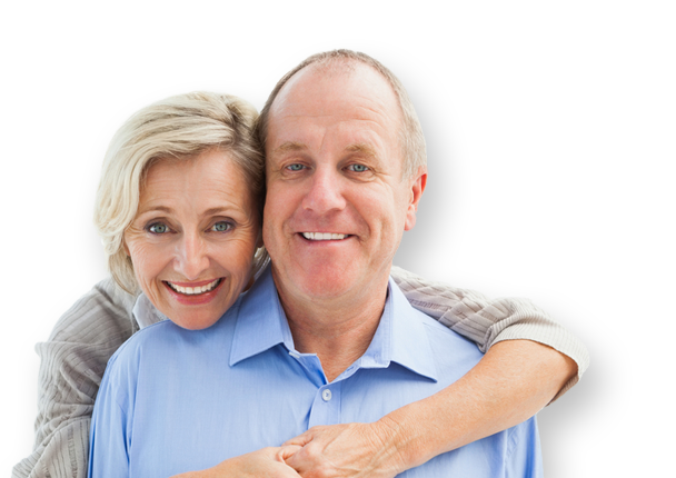 An older couple with healthy smiles