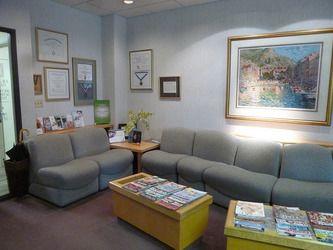 reception area of Dr. Armel's practice