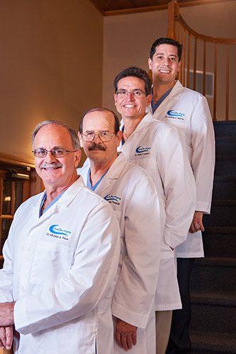Dr. Michael A. Pikos, Dr. G. Thomas Peak III, Dr. José F. Lázaro, and Dr. Andrés E. Guerra.