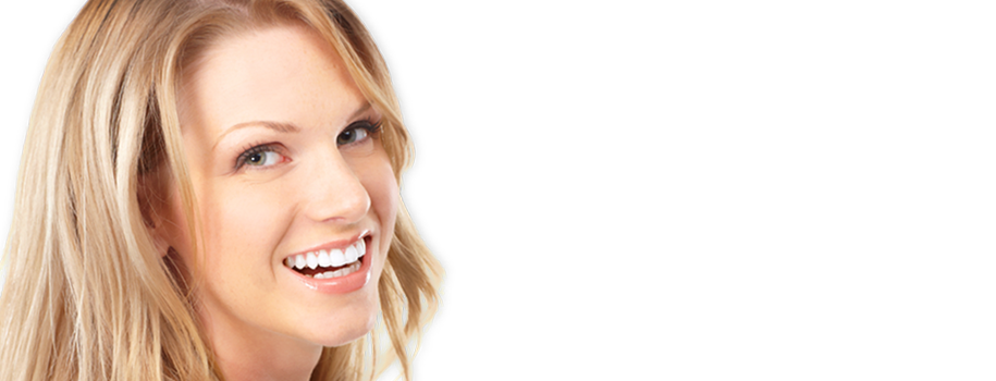 A young blond woman with a beautiful smile