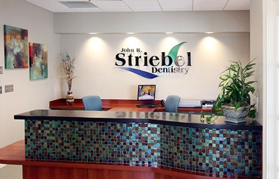 Checkout area of the dental office of Dr. John Striebel