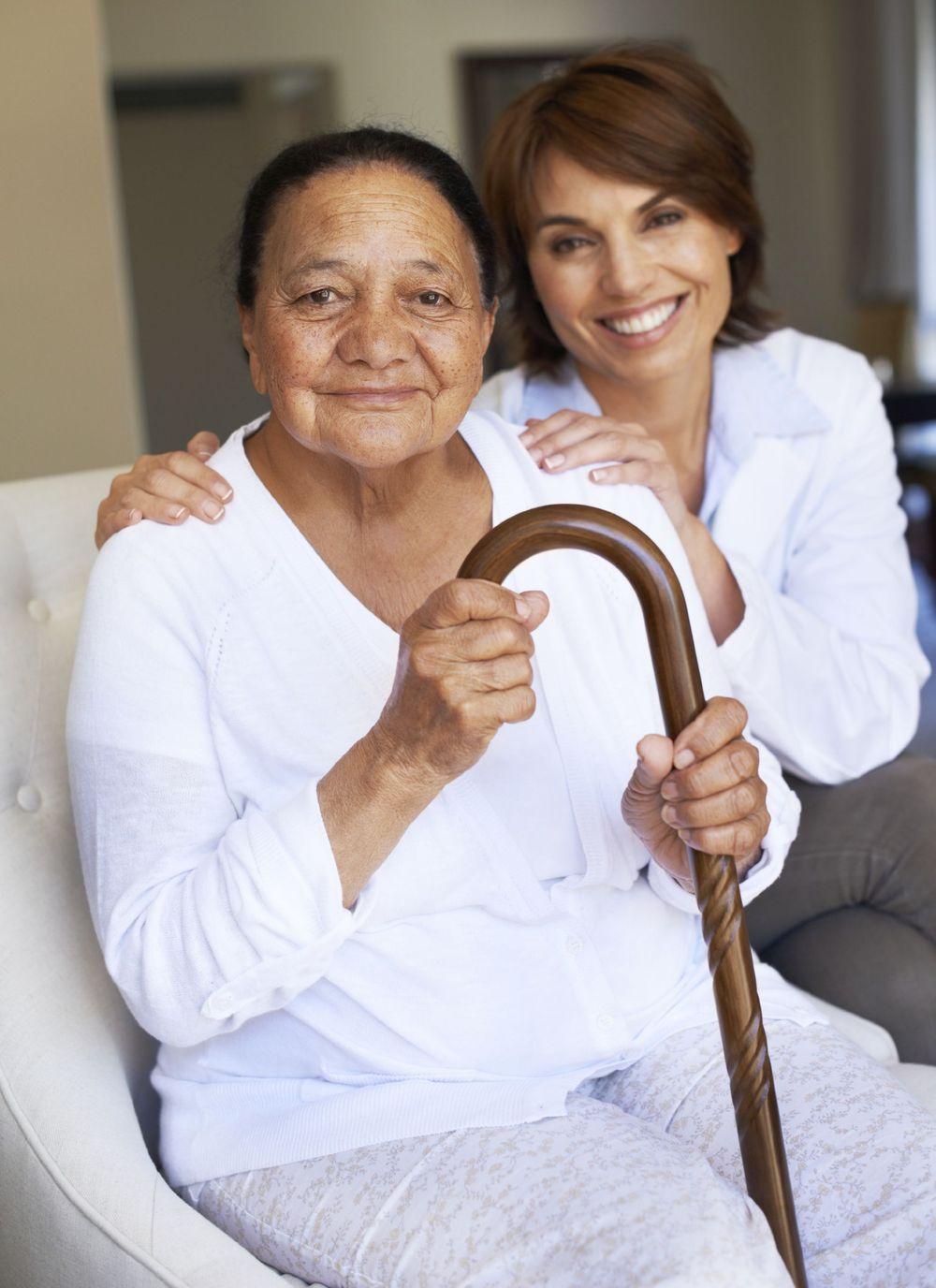 elder and caregiver