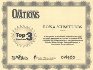 2011 Ovations Awards Certificate