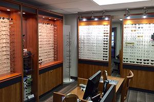 The eyewear selection at ophthamologist Pocono Eye Associates, Inc. in East Stroudsburg, PA