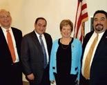 Andy Reinhardt spent a day in Washington, D.C. with WILG President Ed Romano (second from left), WLIC Legislative Chair Bob DeRose (far right) and Congresswoman Mary Jo Kilroy (second from right) on change over day when she was sworn into Congress (2009)