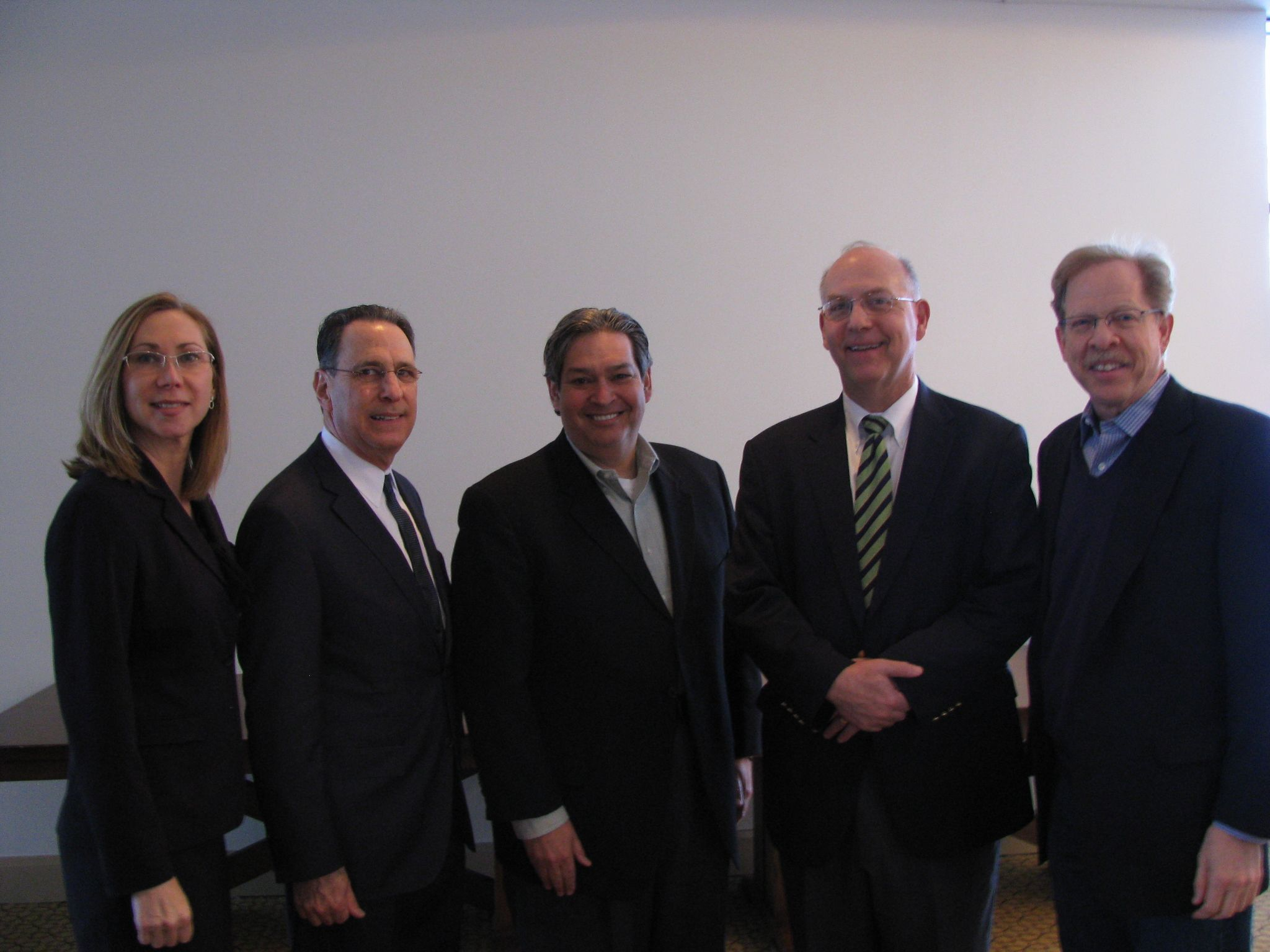 In January of 2011 Andy spoke to the workers' compensation section of the Michigan Advocates of Justice. After speaking to the entire section, he posed with a few of the other speakers. Pictured: Lisa Welton, Joel Alpert, Richard Warsh, Andy Reinhardt, and Murray Gorchow.