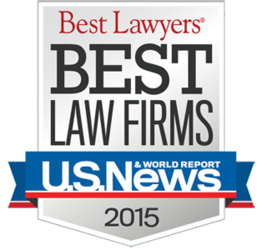 Seal from U.S. News and World Report for being named a Best Law Firm
