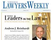Virginia Lawyers Weekly - Leaders in the law named.