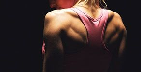Woman's muscular shoulders