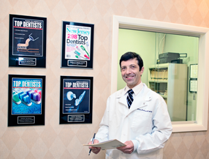 Dr. Andrew Samuel in his office