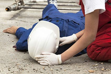 A worker injured on a construction site