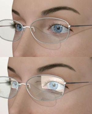 Comparison of anti-reflective lenses vs. reflective lenses.