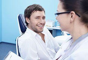 man in dentist's chair