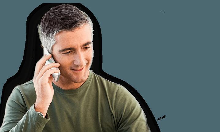 A man talking on a cellular phone