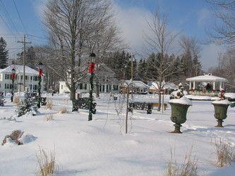 Landscape shot of winter scene outside the practice