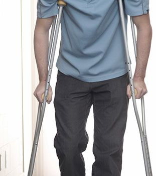 Man on crutches