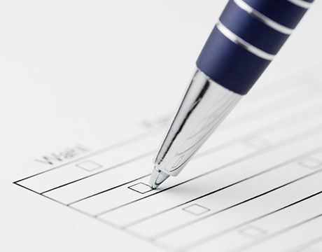 Pen filling out form