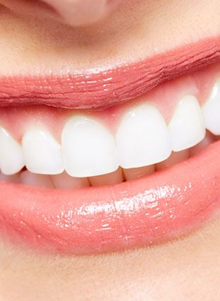 Close up of smiling mouth