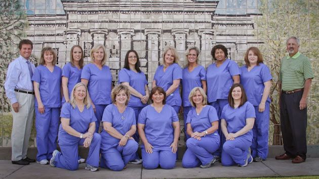 Group photo of the staff at Trulove & Foy Orthodontics.
