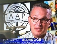 Dr. Aldredge on NBC Nightly News.