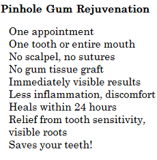 Pinhole gum rejuvenation benefits