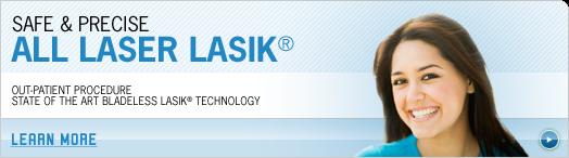 Advertisement for LASIK laser eye surgery