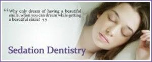 sedation dentistry quote and photo of asleep woman