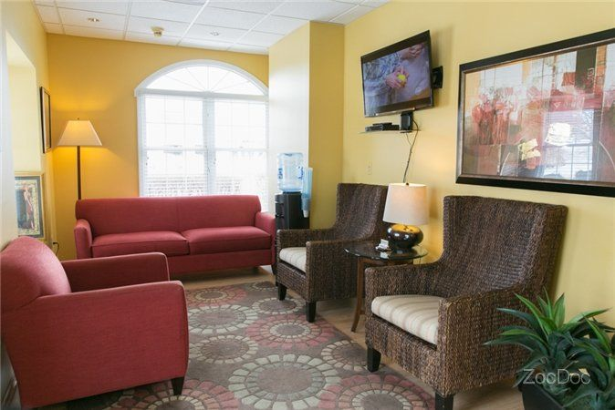 Reception area of Premier Dental and Implant Center