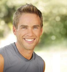 Attractive Blonde Male Smiling