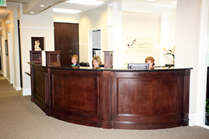 Cosmetic Dentistry Institute front reception desk