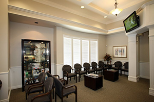 Cosmetic Dentistry Institute waiting room