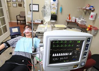 Dental patient undergoing IV sedation
