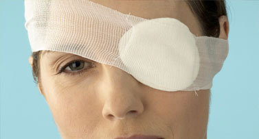 Woman wearing eye patch
