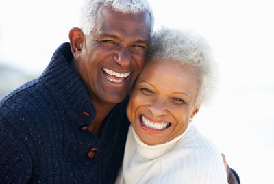Image of smiling elderly couple