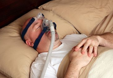 Image of sleep apnea breathing device
