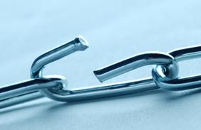 defective product - broken chain