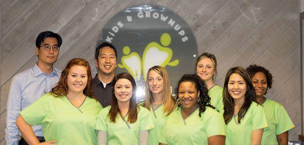 Image of the team at Kids & Grownups Dental