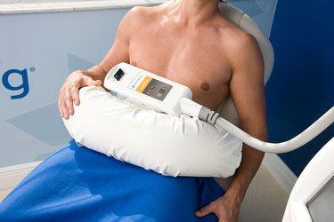 Man undergoing Coolsculpting treatment