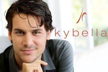 Kybella logo and smiling man
