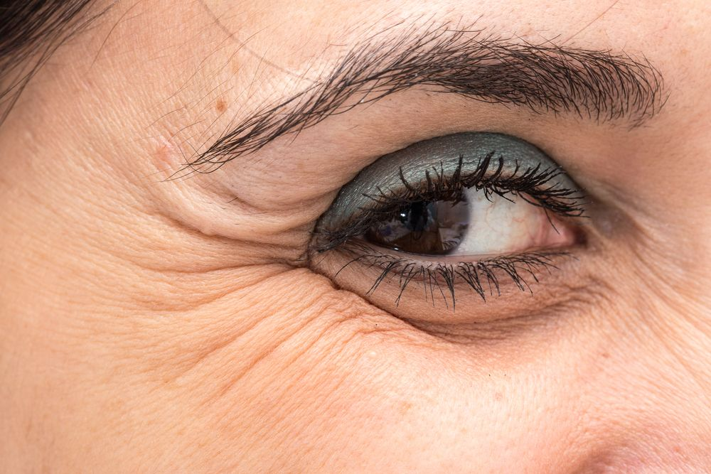 Close-up of an older woman's eye.