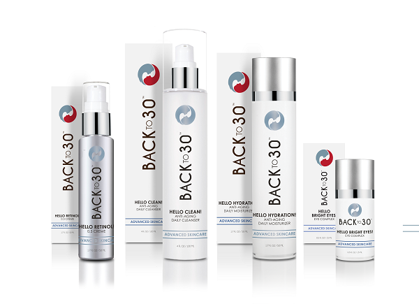 Back to 30 skin care line