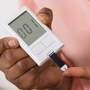 Photo of a blood sugar tester