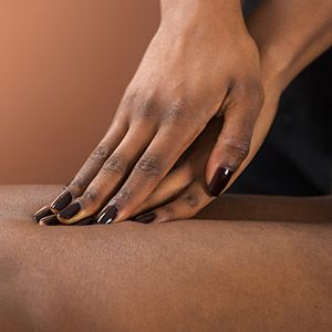 Photo of two hands giving a massage
