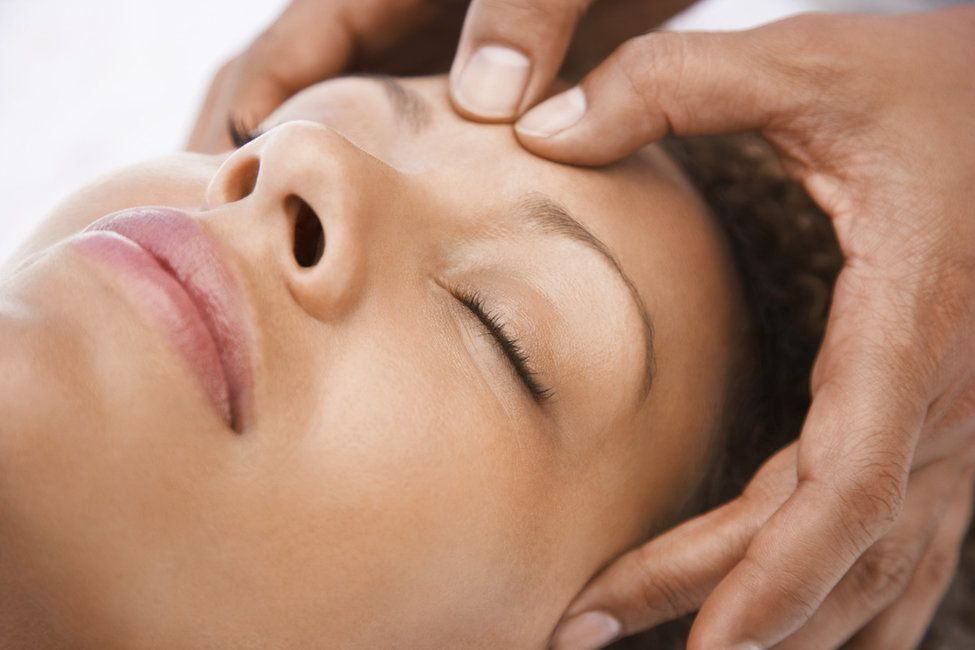 Photo of a patient receiving a facial massage