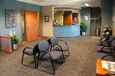 Lobby to the offices of Harrison Dental Group