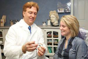 Dr. Regni with patient
