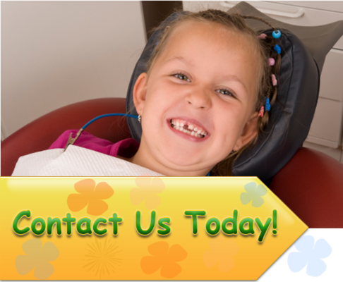 Smiling pediatric dentistry patient